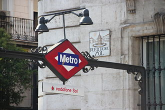 Sol (Madrid Metro) - The station was renamed 'vodafone Sol' from 2013 to 2016.