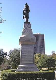 Volunteer Firemen monument in front of Texas State Capitol-front view.JPG