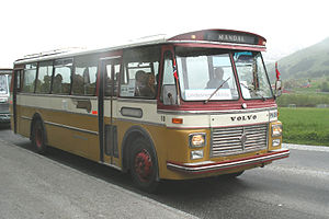 Volvo B57 - A vintage Repstad bodied BB57 from Sørlandsruta, near Molde in May 2008