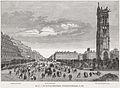 Vue de la tour Saint-Jacques, du boulevard Sébastopol, 1866.jpg