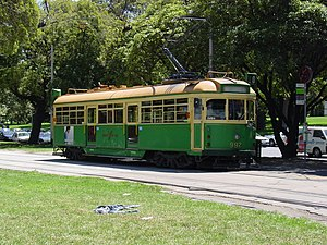 W-class Melbourne tram - A W6-class tram in Victoria Street