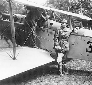 Washington Air National Guard - Reuben Fleet, Washington Air National Guard flying a Curtiss JN-6 Jenny, 1925. Previously, he established the United States Air Mail Service in May 1918
