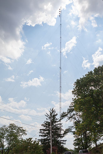 WCLG (AM) - Antenna on Jackson Street in Westover