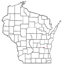 Location of Brownsville, Wisconsin