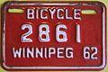 WINNIPEG MANITOBA 1962 -BICYCLE PLATE - Flickr - woody1778a.jpg