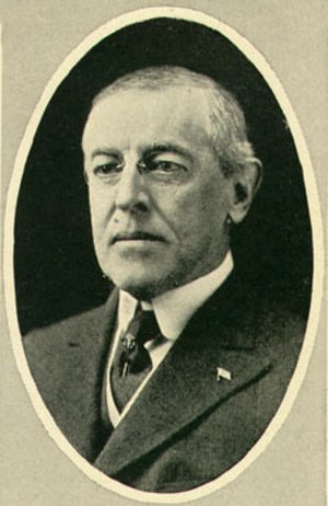 The war to end war - Woodrow Wilson, the President of the United States, with whom the phrase is often associated.