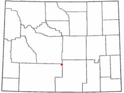 Location of Bairoil, Wyoming