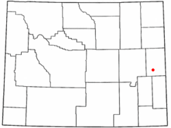 Location of Manville, Wyoming