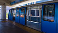 Waiting train Wilkie D. Ferguson, Jr. people mover station Miami 2012-04.jpg