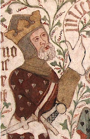 Valdemar IV of Denmark - Valdemar shown on a contemporary fresco in St. Peter's Church, Næstved (Sankt Peders Kirke).