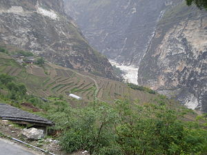 Farming terraces on the eastern side of the vi...
