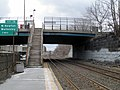 Walnut Street stairs at Newtonville station, March 2013.JPG