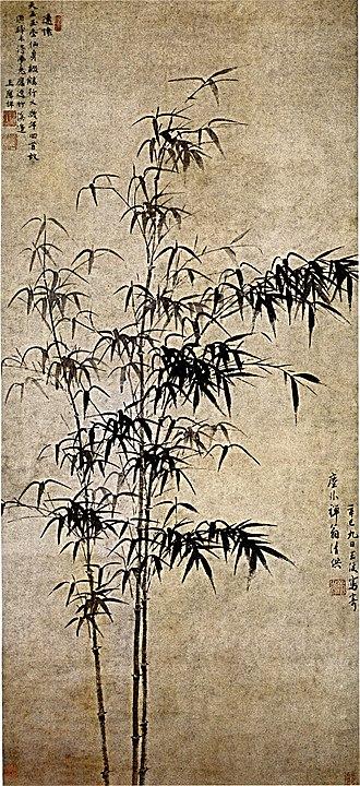 Bamboo painting - Image: Wang Fu Ink Bamboo
