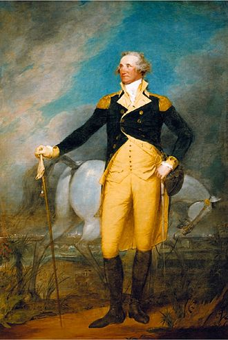 General George Washington at Trenton - Washington at the City of Charleston, by John Trumbull, 1792