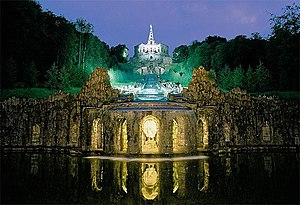 German Fairy Tale Route - Kassel: Herkules monument by night