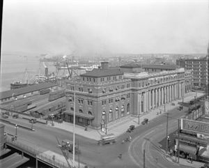 Waterfront station (Vancouver) - Station circa 1923