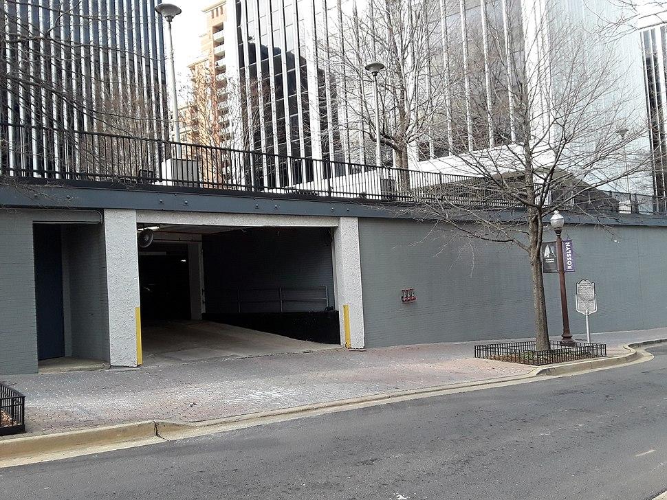 Watergate garage with historic marker