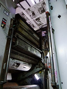 Web-fed offset press printing newspapers