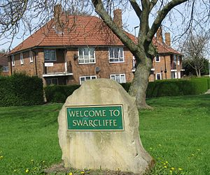 Swarcliffe - Image: Welcome to Swarcliffe Stanks Garth