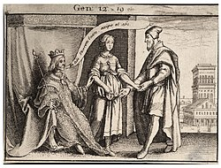 Wenceslas Hollar - Sarah restored to Abraham (State 1).jpg