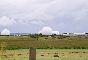 RAF West Freugh - Radomes and hangars at West Freugh