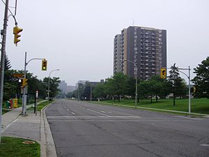 Eatonville, Toronto - Image: West Mall North from Eva