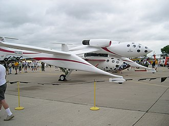 General Electric J85 - Scaled Composites White Knight sporting two General Electric J85 afterburning engines