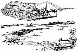 Claims to the first powered flight - The illustration that accompanied the claim in the Bridgeport Herald