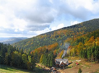 mountain range in the Central Sudetes in south-west Poland