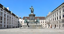 Monument in the inner courtyard of the Hofburg in Vienna (Source: Wikimedia)