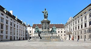 Francis II, Holy Roman Emperor - Monument in the inner courtyard of the Hofburg in Vienna