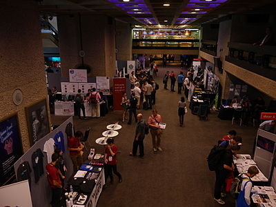 Wikimania 2014 communities village at 13-10 on Friday 03.jpg