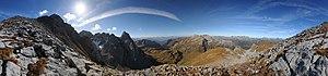 Cylindrical perspective - Image: Wildgrubenspitzen Roggalspitze
