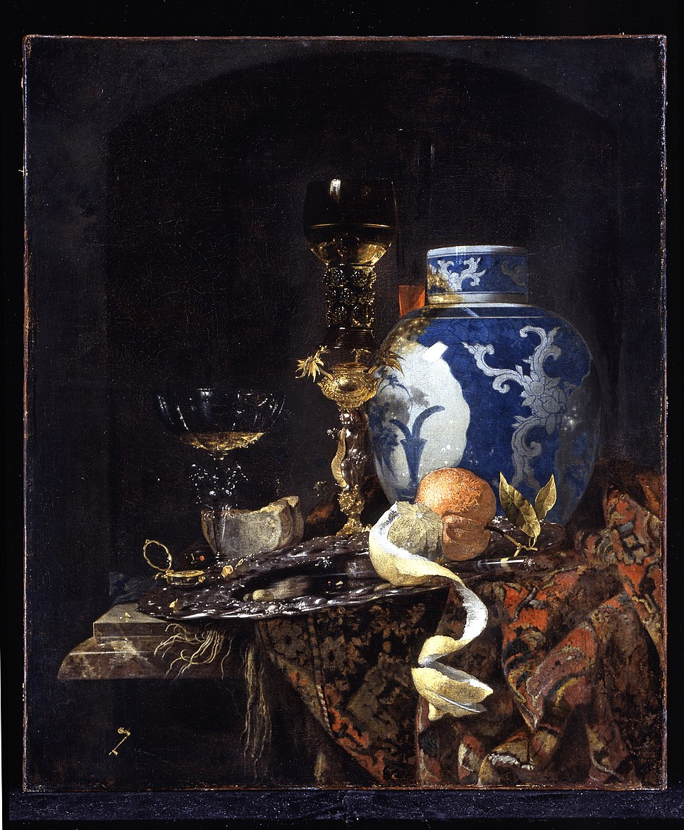 Willem Kalf - Still-Life with a Late Ming Ginger Jar - WGA12080