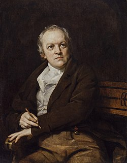 William Blake na portrétu od Thomase Philipse (1807)