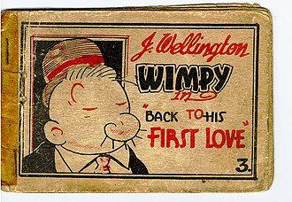 "The cover of a typical Tijuana bible, this one features Wimpy, and is drawn in the style of the anonymous ""Mr. Prolific"". Wimpy TJB.jpg"