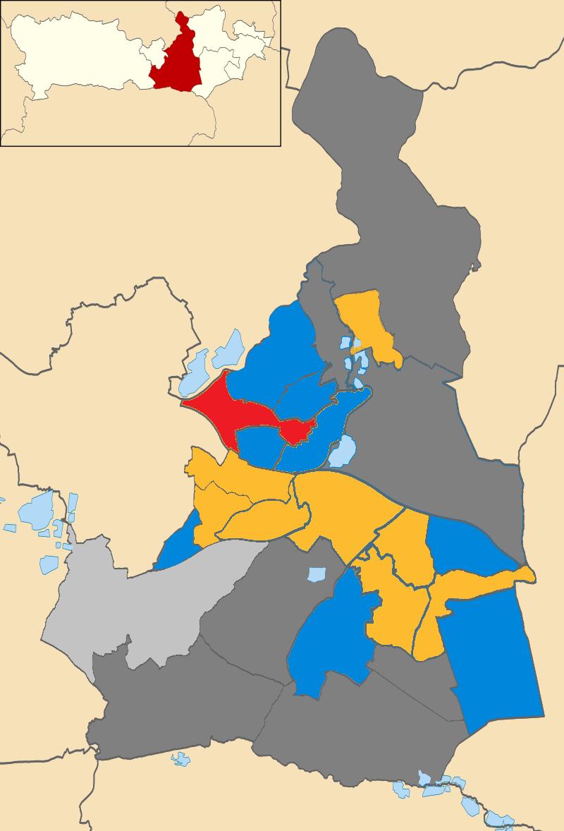 Wokingham Borough Council UK local election 2019 map