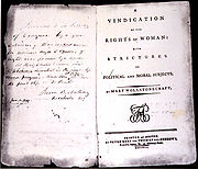 First American edition of A Vindication of the Rights of Woman (1792)