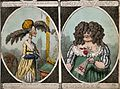 Women wearing four different styles of fashionable wigs. Wellcome V0019846.jpg