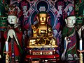 Wooden Ksitigarbha Bodhisattva Triad Statues And Ten Kings Statue at Cheonggoksa 02.JPG