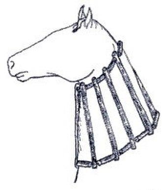 Collar (animal) - Wooden neck cradle