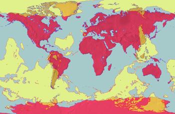 Mapamundi de las antípodas