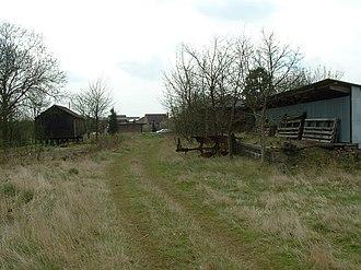 Wragby railway station - Former station yard