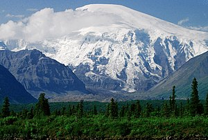 Geography of Alaska - Mount Sanford in the Wrangell Mountains.