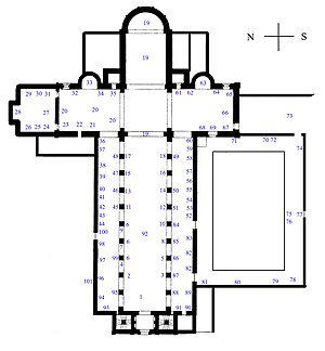Würzburg Cathedral - Floor plan