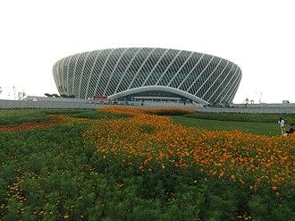 Optics Valley International Tennis Center - Image: Wuhan SE DSCF1120 Olympics Sports Center