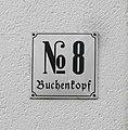 Wuppertal, Buchenkopf 8, Hausnummernschild.jpg