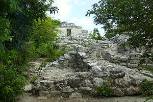 Xcaret - Image: Xcaret Mayan Ruins