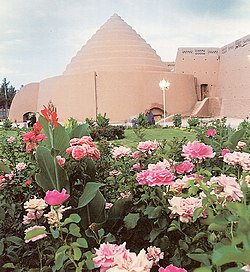 An ancient ice house, called a yakhchal, built in Kerman, Iran, during the Middle Ages, for storing ice during summers.