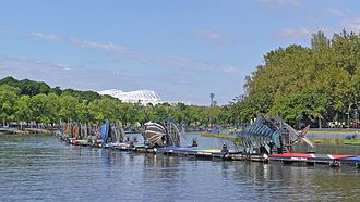 2006 Commonwealth Games - Fish Boats on Yarra River during the games